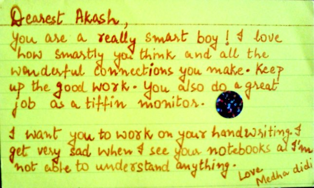 Letter to Akash